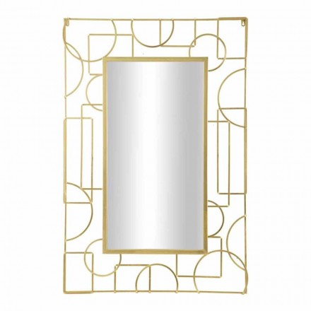Specchio Rettangolare Design Moderno da Parete in Ferro - Plinio