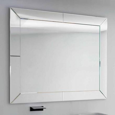 Specchio rilegato con bordo molato moderno, H120 x L120cm,Dedalo