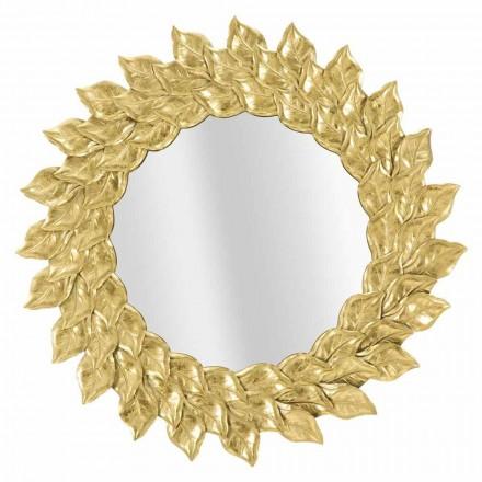Specchio Rotondo da Parete di Design Moderno con Cornice in Ferro - Seneca