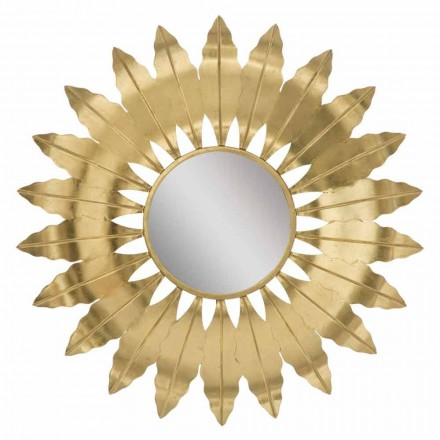 Specchio Rotondo da Parete Moderno con Cornice in Ferro - Galdi