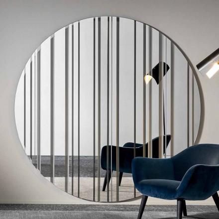 Specchio Rotondo da Parete Diametro 200 cm di Design Made in Italy – Coriandolo