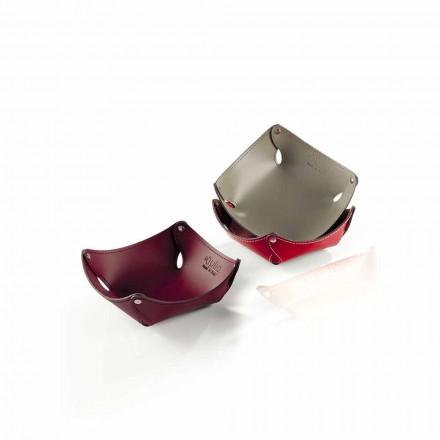 Svuotatasche Design in Cuoio o Rigenerato di Cuoio - Modello Clay