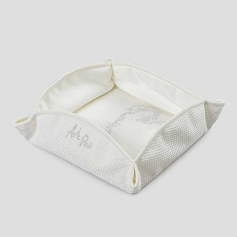 Svuotatasche Passepartout Bianco Naturale con Cristalli, Perle o Pizzo - Sasseo