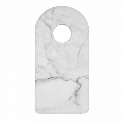 Tagliere Design in Marmo Bianco di Carrara Moderno Made in Italy - Amros