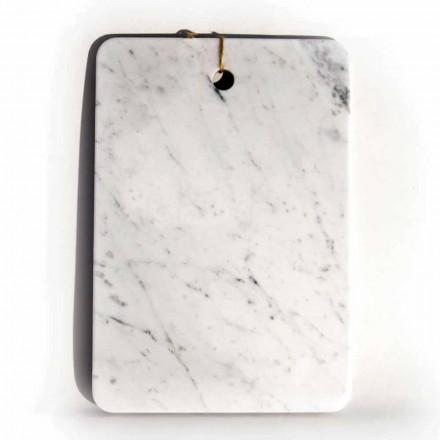 Tagliere in Marmo Bianco di Carrarra di Design Made in Italy - Masha