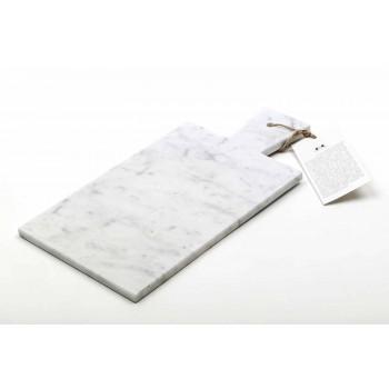 Tagliere Moderno in Marmo Bianco di Carrara Made in Italy - Biblon