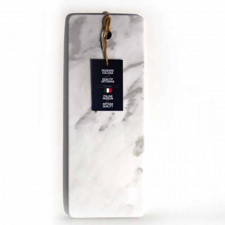 Tagliere Rettangolare in Marmo Bianco di Carrara Made in Italy - Masha