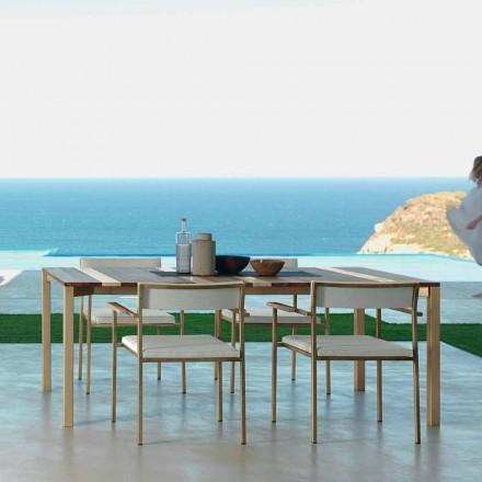 Talenti Casilda tavolo da giardino di design L260xH76cm made in Italy