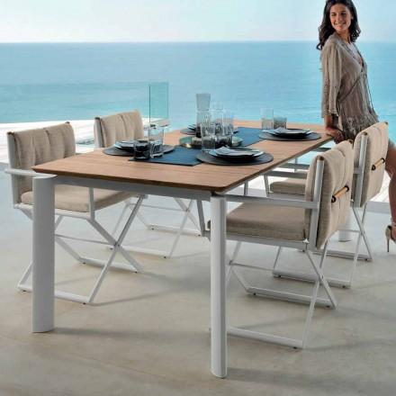 Talenti Domino tavolo allungabile da giardino 160/215cm made in Italy