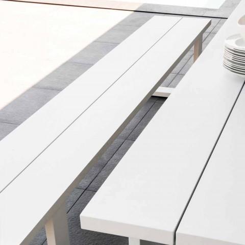 Talenti Essence panca da giardino in alluminio bianco made in Italy