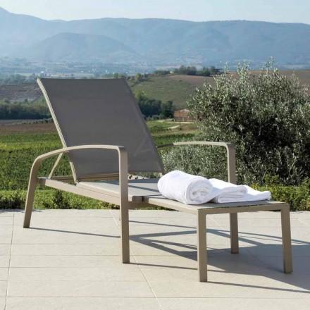 Talenti Lady lettino reclinabile da giardino di design made in Italy