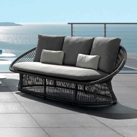 Talenti Rope divano da giardino struttura in alluminio made in Italy