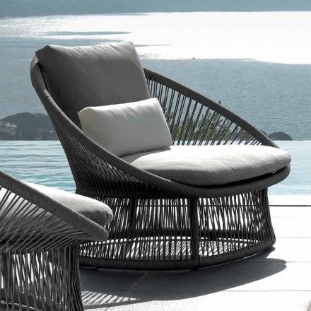 Talenti Rope poltrona da giardino di design moderno made in Italy