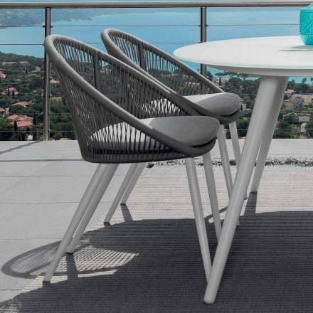 Talenti Rope sedia da giardino in alluminio verniciato made in Italy