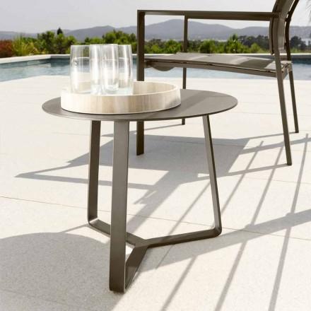 Talenti Touch tavolino da giardino in alluminio d.45 made in Italy