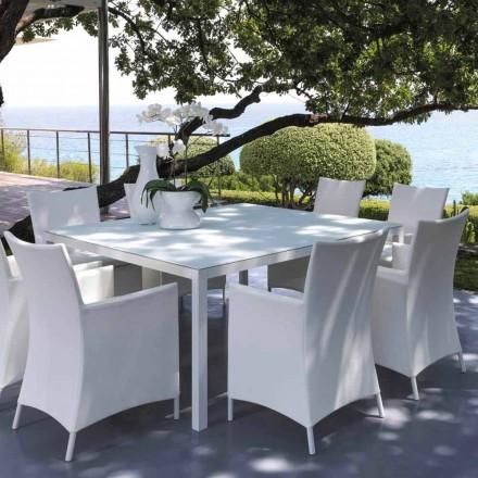 Talenti Touch tavolo da esterno 155x155cm di design made in Italy