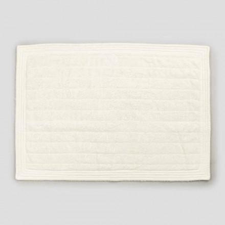 Tappeto da Bagno Rettangolare in Spugna Colorata Design Shabby Chic - Ginova