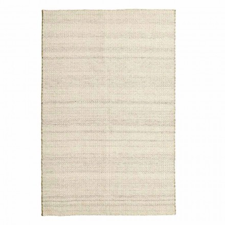 Tappeto da Salotto Tessuto a Mano in Lana e Cotone Design Moderno - Rivetto