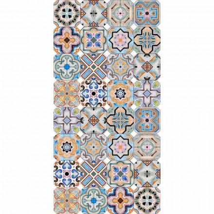 Tappeto Moderno con Maioliche Colorato in Vinile per Salotto - Calor