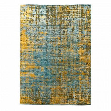 Tappeto Moderno da Salotto Annodato a Mano in Seta di Bambù e Cotone - Buba