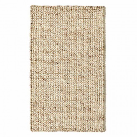 Tappeto Moderno in Lana e Cotone Tessuto a Mano da Soggiorno - Relitto