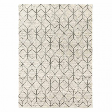 Tappeto Moderno Tessuto a Mano con Design Geometrico in Lana da Salotto - Geome