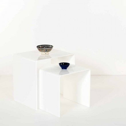 Tavolini di design in plexiglass colorato prodotti in Italia, Spinoso