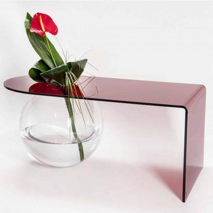 Tavolino a ponte moderno in plexiglass realizzato in Italia, Bolly