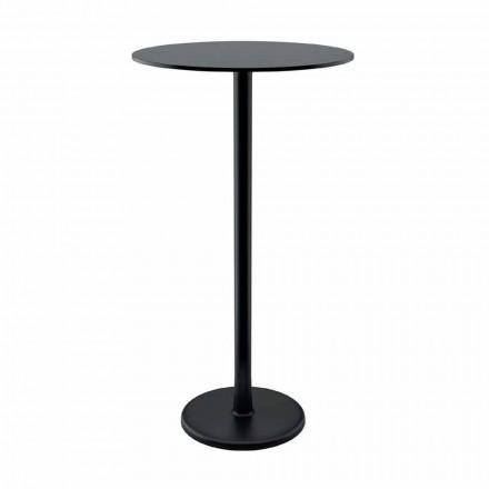 Tavolino Alto da Esterno in Metallo Ghisa e HPL Made in Italy - Chester