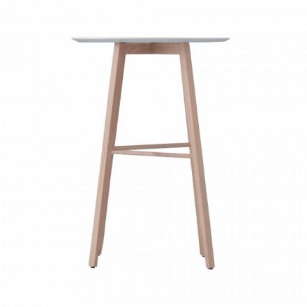 Tavolino Alto o Basso da Salotto in Legno Rovere e Piano Bianco - Langoustine