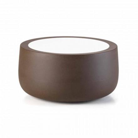 Tavolino Basso da Esterno di Design in Hpl e Polietilene Made in Italy - Belida
