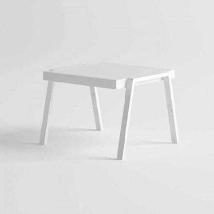 Tavolino Basso da Esterno in Alluminio e HPL di Design Moderno - Carmine2