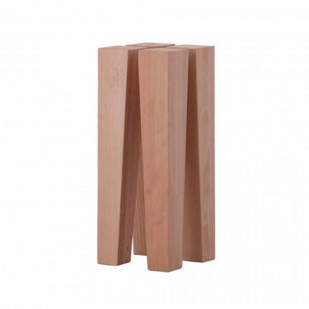 Tavolino Basso da Salotto di Design Moderno in Legno di Faggio - Roncone