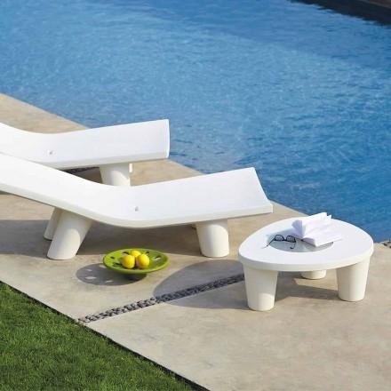 Tavolino basso da giardino Slide Low Lita Table in polietilene e vetro