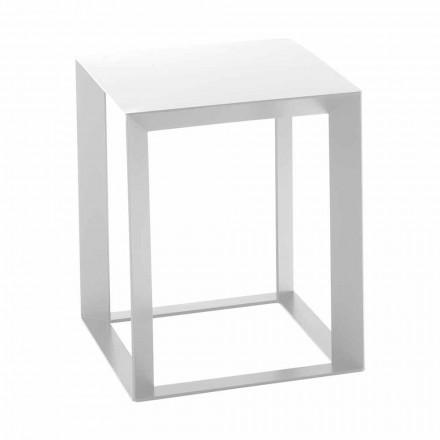 Tavolino Caffè da Salotto in Metallo di Design Quadrato 2 Dimensioni - Josyane