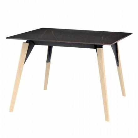 Tavolino Caffè in Legno e Effetto Marmo, 3 Colori 2 Misure - Faz Wood by Vondom