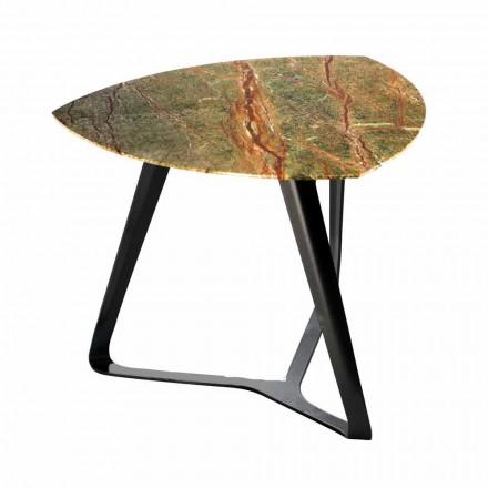 Tavolino da Caffè Artigianale con Piano in Marmo di Lusso Made in Italy - Reale