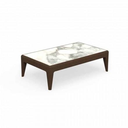 Tavolino da Caffè da Giardino L90cm in Teak e Gres Capraia – Cruise Teak Talenti