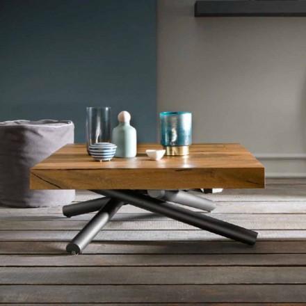 Tavolino da Caffè di Design Trasformabile in Legno Made in Italy - Vincenzo