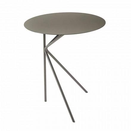 Tavolino da Caffè in Metallo Tondo, Design in Vari Colori e 2 Misure - Olesya