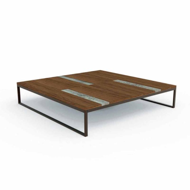 Tavolino Da Caffe Per Esterno In Legno 140x140 Cm Casilda Talenti