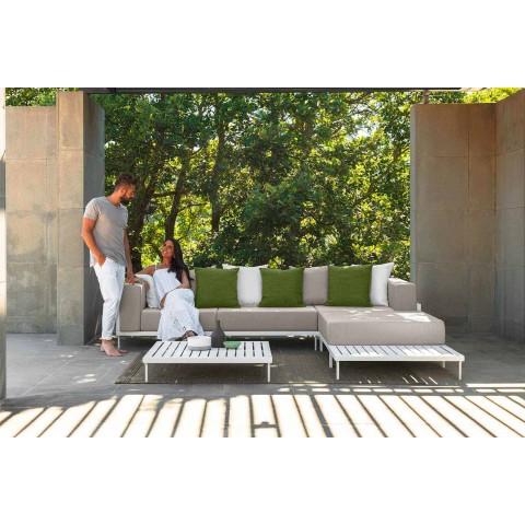 Tavolino da Caffè per Esterno Rettangolare in Alluminio – Cleo Alu by Talenti
