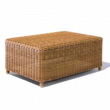 Tavolino da Caffè per il Giardino in Rattan Sintetico Intrecciato - Yves