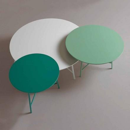 Tavolino da Caffè per il Salotto di Design Rotondo Moderno Colorato - Boogie