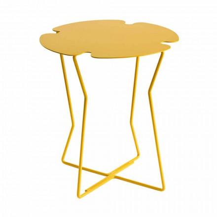 Tavolino da Caffè per Soggiorno in Metallo, Design di Vari Colori - Kathrin