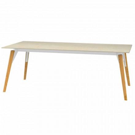 Tavolino da Caffè Piano Effetto Marmo, 3 Colori 2 Misure - Faz Wood by Vondom