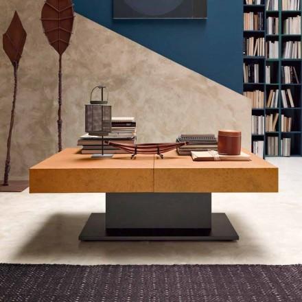 Tavolino da Caffè Trasformabile con Piano Effetto Malta Made in Italy - Romantic