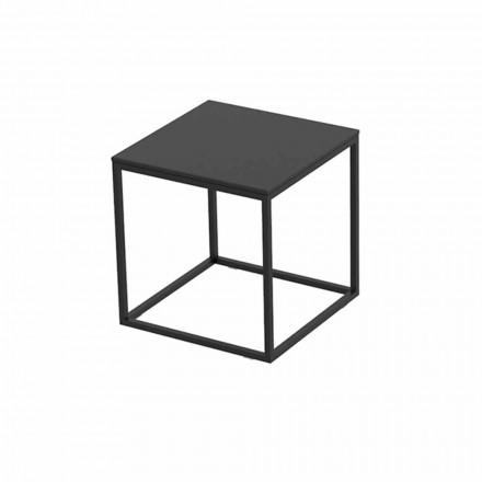 Tavolino da Esterno in Alluminio e Laminato Nero Quadrato - Suave by Vondom