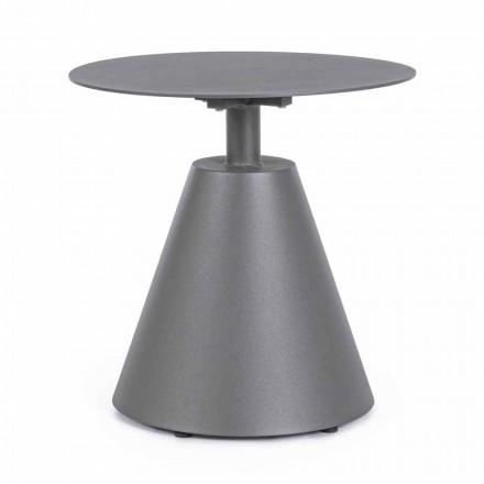 Tavolino da Esterno in Alluminio Verniciato con Piano Tondo, Homemotion - Tafari