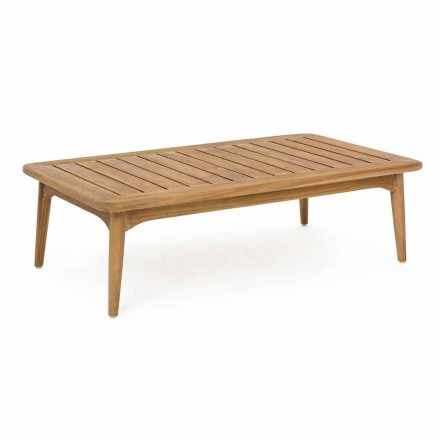 Tavolino da Esterno Moderno in Legno di Teak Homemotion - Luanaedmea
